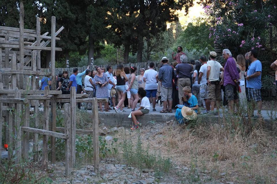 visite du parcours à Livadia
