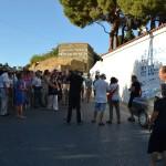Départ de la visite du parcours à Livadia